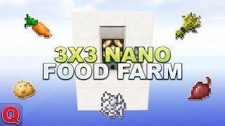 Minecraft - 3x3 Nano Karotten-, Kartoffeln-, Weizen- & Rote Beete Farm - (Quick) Tutorial 1.13
