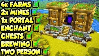 Minecraft INSANE 2 Player Survival House Tutorial (How to Build)