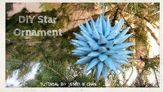 DIY Polish Star Ornament - Christmas Decoration - Paper Crafts Tutorial