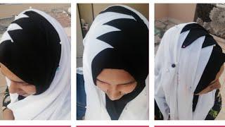 ഹിജാബ് സ്റ്റൈൽ ട്യൂട്ടോറിയൽ | criss cross hijab style tutorial | full coverage hijab style tutorial