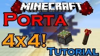 Minecraft - Porta 4x4 (sem Areia)! - Tutorial