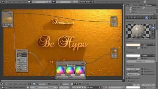 Blender 3D Tutoriel Français - Carton D'invitation Hype - By KOPILOT