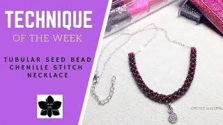 Tubular Chenille Stitch Seed Bead Rope on Chain Necklace | Jewelry Making Tutorial