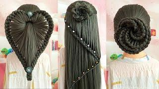 Flower Hairstyle & Heart Hairstyles