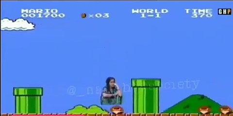 Funny video Anuska sharma in super mario game