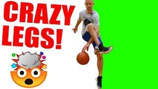 CRAZY LEGS basketball move tutorial! How to dribble like THE PROFESSOR!