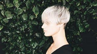 how to cut short women's haircut with light fringe tutorial