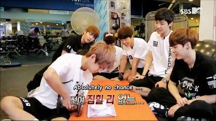 [Eng Sub] BTS Funny Moment- V Eating A Jelly With A Heavy Fork