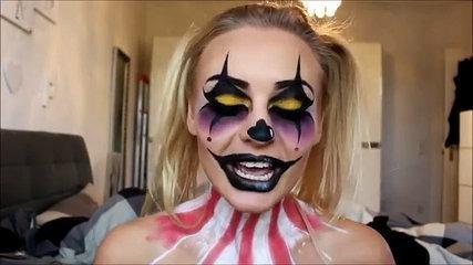 Creepy Clown Halloween Make Up Tutorial