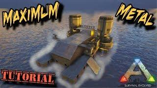 Resource Motorboat Tutorial - The best way to get metal - Ark Survival Evolved