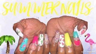 Summer Nails Tutorial | Acrylic Nails Design Tutorial