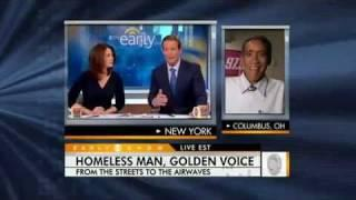 Ted Williams Interview  On CBS - Homeless Man With Golden Voice