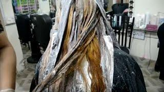 Hair color cut down and coloring tutorial in urdu | METALLIC HAIR TUTORIAL |nazia bilal