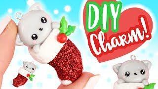 DIY Kawaii Kitten in Christmas Stocking Charm! -Polymer Clay Tutorial | KAWAII FRIDAY