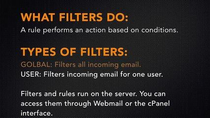 cPanel Tutorials  Email Filters