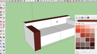08 Sketchup Nederlands Tutorial Sofa Kleuren En Texturen