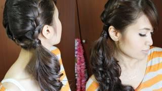 Chic Side Ponytail French Braid Hairstyle For Long Hair Tutorial