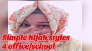 Hijab styles for school/office || simple Hijab Tutorial ||#98