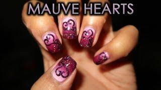 Mauve Hearts | DIY Nail Art Tutorial