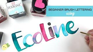 Beginner Brush Lettering & Ecoline Watercolors Tutorial - Some Favorite Supplies & Techniques