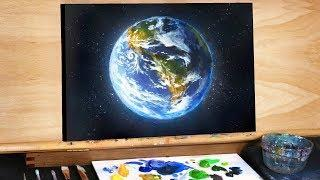 Planet Earth in Space - A Step by Step Painting Tutorial (Ryan O'Rourke)