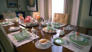 Easter Table Setting   At Home With P. Allen Smith