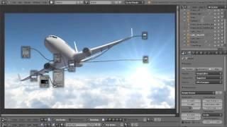 Blender 3D Tutoriel Français - Cycles - Blender Plane - By KOPILOT