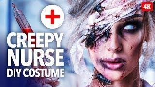 Creepy Nurse Halloween Makeup Tutorial