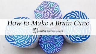 Polymer Clay Brain Cane Tutorial (Bonus Kaleidoscope)