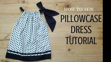 How to sew a Pillowcase Dress Tutorial | DIY - Make Simple Polkadots Pillowcase Dress