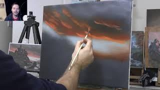 Old Castle - Wet on Wet - Full Oil Painting Tutorial - Landscape Painting