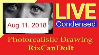 Draw Realistic | Step by Step Live Session Drawing Tutorial condensed | RixCanDoIt