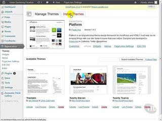 Wordpress Tutorial for Beginners 22 Themes