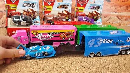 Disney Pixar Cars3 Toys Lightning McQueen Mack Truck for kids Many cars toys Unboxing Funny v