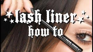 WATERLINE TUTORIAL with LASH LINER by KAT VON D BEAUTY