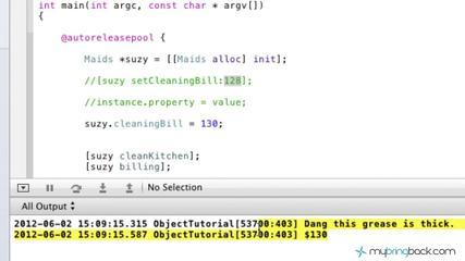Learn Objective C Tutorial 1.25 Dot Operator To Set/Get Instance Variables
