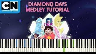 Steven Universe   Diamond Days Medley: Piano Tutorial   Cartoon Network