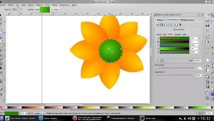 Tutorial de Inkscape, Flor fácil