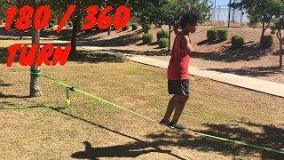 Slackline Tutorial: How to Do a 180/360 Turn