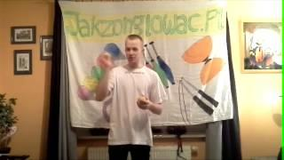 #33 Slow Shuffle - Juggling Trick Tutorial - Slow-motion. PL With ENG SUBS - Wolne Tasowanie