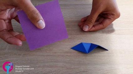 Origami Tutorial : Modular Sonobe Unit (Model 2)