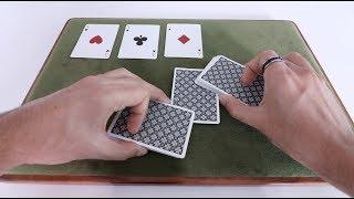 Tabled 4 Ace Production Card Trick [Tutorial]