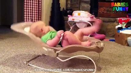 Funny Baby in Bouncy Seat!