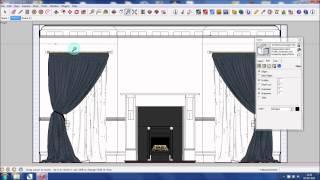 Google SketchUp Tutorial - Creating A Georgian Inspired 3D Model Part 2