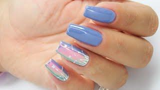 Aurora, Blue, Little Star nails art Tutorial / Cuccio Star Nail #cuccionails