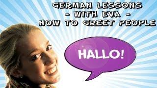 German Lesson 1 - How To Greet People