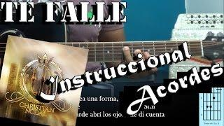 Tutorial | Te falle | Christian Nodal | Acordes