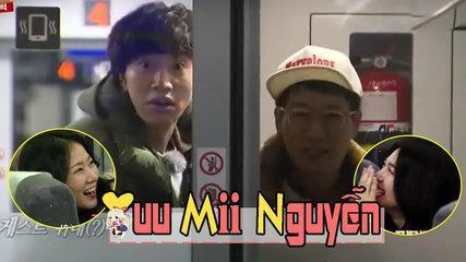 《FUNNY》 Running Man EP 383   LEE KWANG SOO - JI SUK JIN VUI MỪNG KHI CHUNG ĐỘI VỚI KHÁCH MỜI NŨ