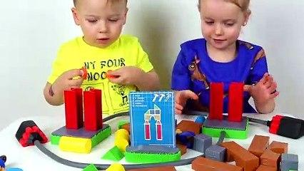 Playing BUILD or BOOM Funny Game with Gaby and Alex
