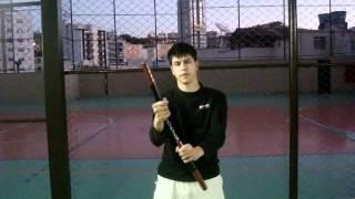 Nunchaku Tutorial Em Português -  2 Rotação Do Pulso + Tapping